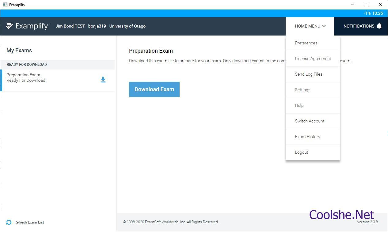 تحميل برنامج Examplify لاداء الاختبار التحصيلي من Examsoft